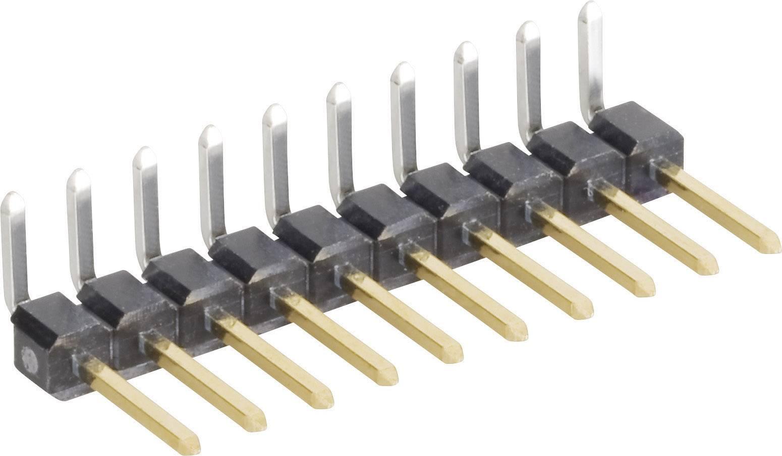 Pinová lišta uhlová MPE Garry STL1-1470AGT-006U, 1x 6-pól., 2,54 mm