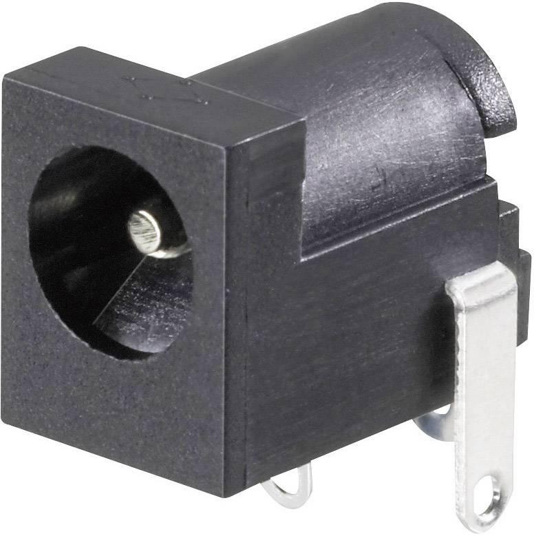 Nízkonapäťový konektor zásuvka, vstavateľná horizontálna Conrad Components 6.3 mm, 2 mm, 1 ks