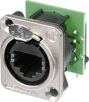 Konektor RJ45 EtherCon Neutrik NE 8 FDH-C5E, zásuvka zahnutá, niklová