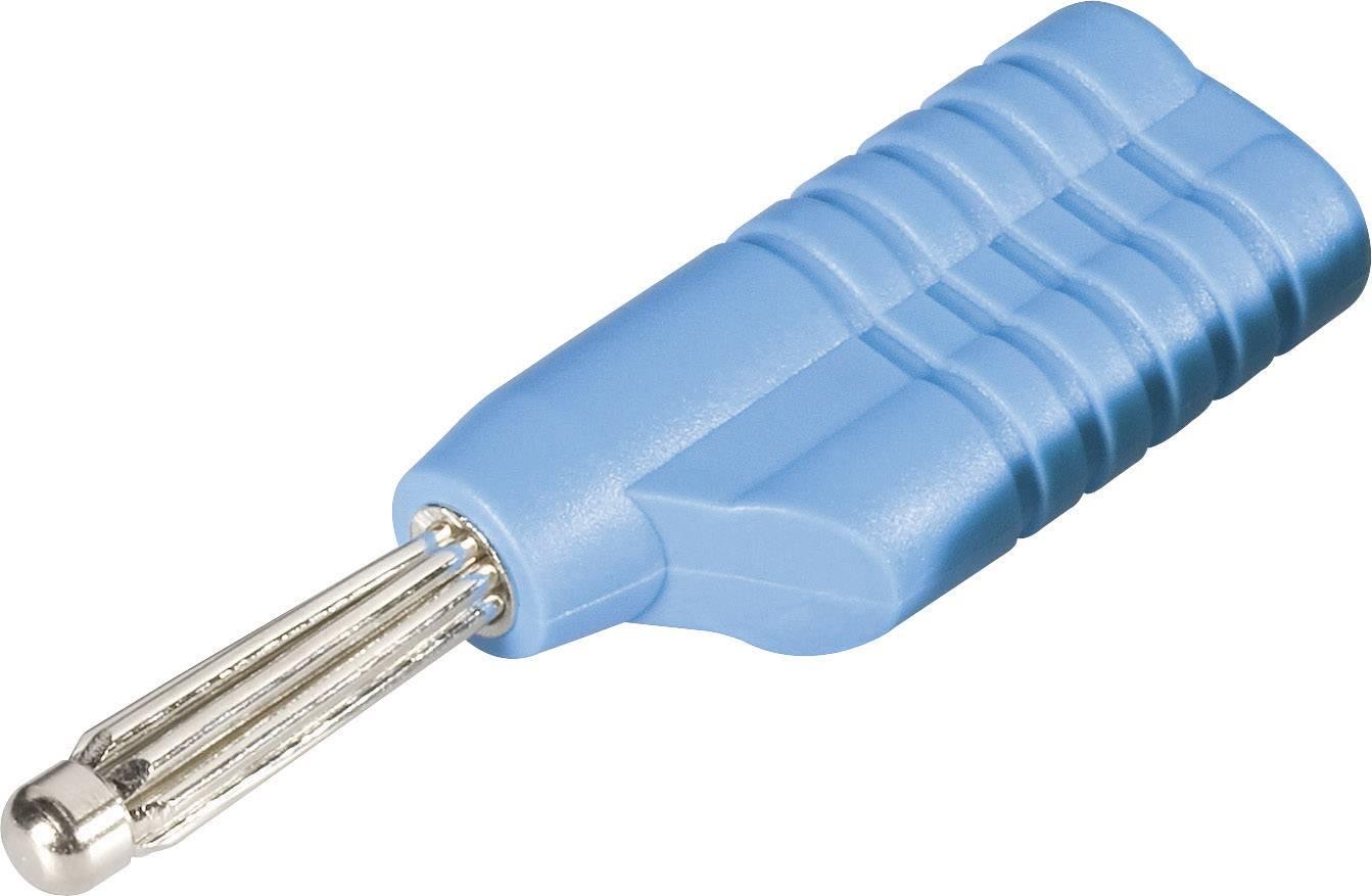 Banánový konektor Schnepp S 4041 S – zástrčka, rovná, Ø hrotu: 4 mm, modrá, 1 ks