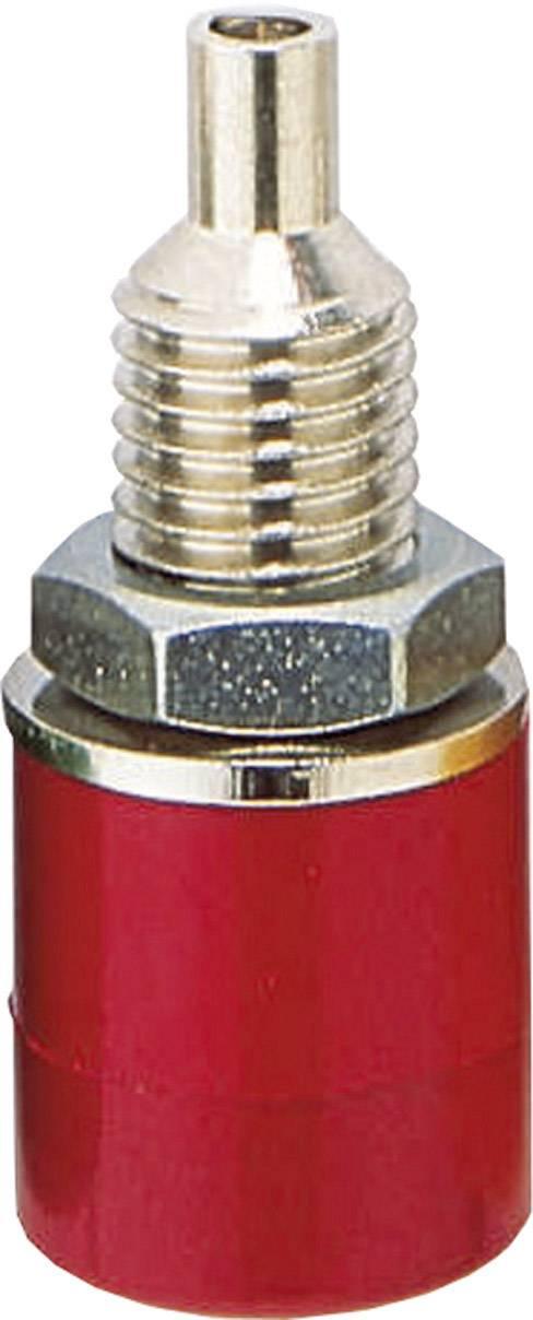 Zdířka pro banánek BKL Electronic 072306 – zásuvka, vstavateľná vertikálna, Ø hrotu: 4 mm, červená, 1 ks