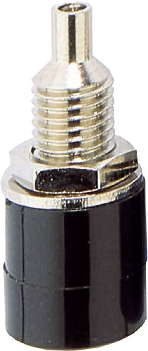 Laboratórna zásuvka BKL Electronic 072307 – zásuvka, vstavateľná vertikálna, Ø hrotu: 4 mm, čierna, 1 ks