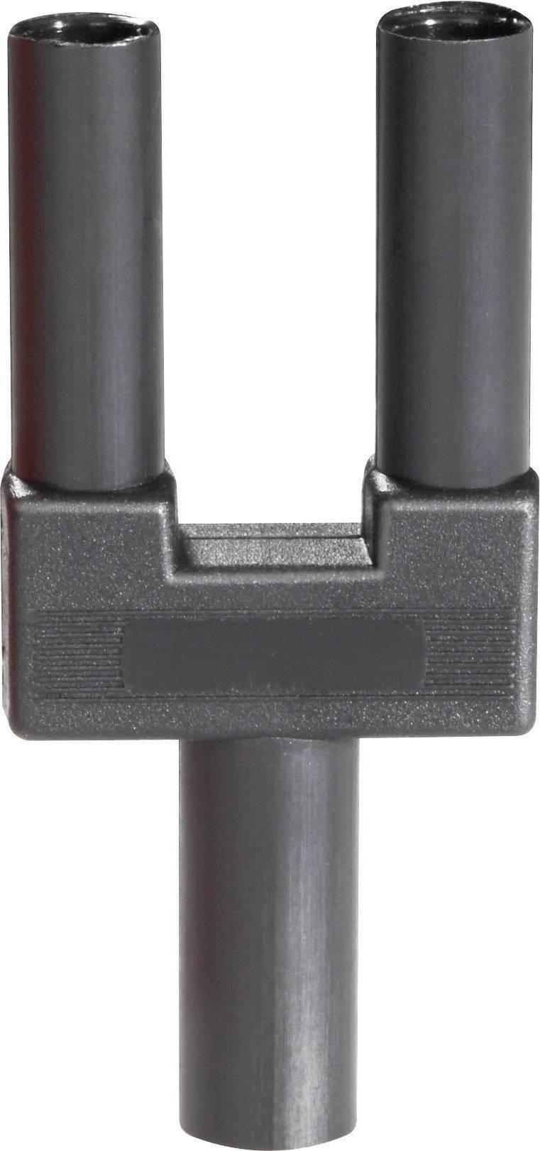 Bezpečnostný skratový mostík Schnepp SI-FK 19/4 mB sw, Ø hrotu 4 mm, rozostup hrotov 19 mm, čierna, 1 ks