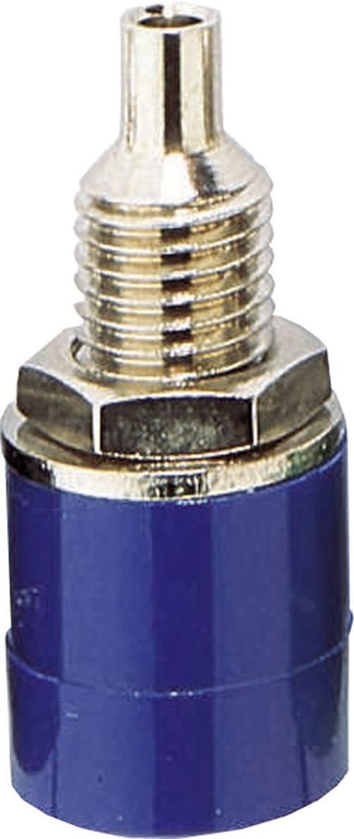 Zdířka pro banánek BKL Electronic 072310 – zásuvka, vstavateľná vertikálna, Ø hrotu: 4 mm, modrá, 1 ks
