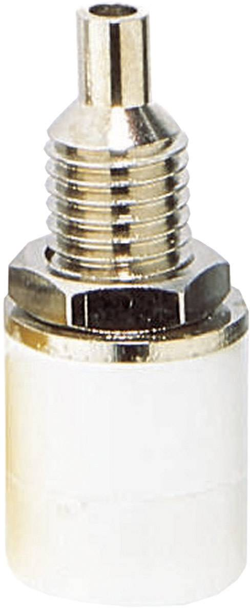 Laboratórna zásuvka BKL Electronic 072312 – zásuvka, vstavateľná vertikálna, Ø hrotu: 4 mm, biela, 1 ks