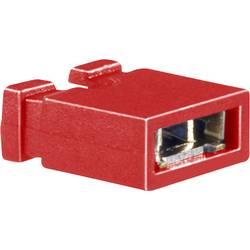 Zkratovací můstek BKL Electronic 10120188, 2pól., rastr 2,54 mm, červená