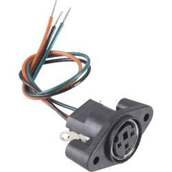 Mini DIN konektor zásuvka, vstavateľná vertikálna BKL Electronic 0204027, pinov 6, čierna, 1 ks
