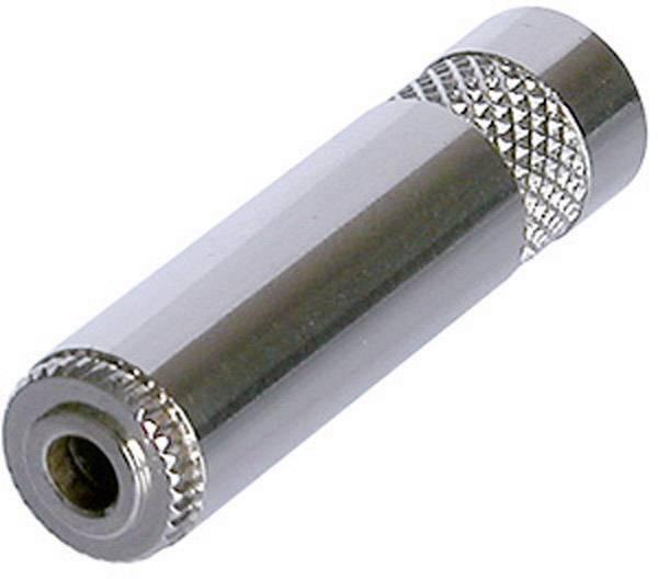 Jack konektor 3.5 mm stereo zásuvka, rovná Rean AV NYS240L, pinov 3, strieborná, 1 ks