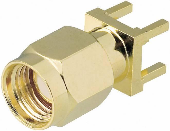 SMA reverzný konektor BKL 419021, 50 Ω, zástrčka vstavaná