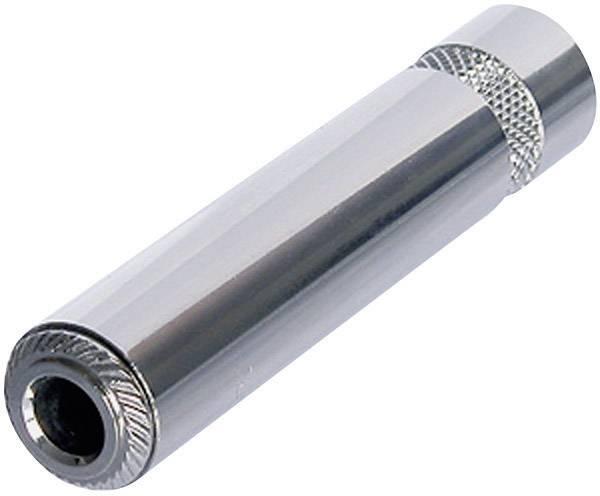 Jack konektor 6.35 mm čiernobiela zásuvka, rovná Rean AV NYS2202P, pinov 2, strieborná, 1 ks