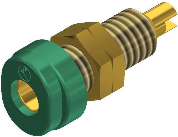 Laboratorní konektor Ø 4 mm SKS Hirschmann BUG 10 Au (930175704), zás. vest. vert., zelená