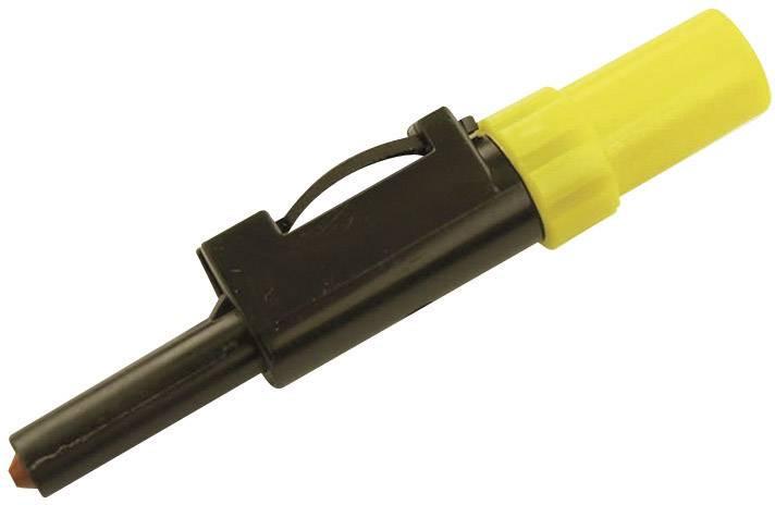 Laboratórna zástrčka SKS Hirschmann SLS 10 B – zástrčka, rovná, Ø hrotu: 4 mm, žltá, 1 ks