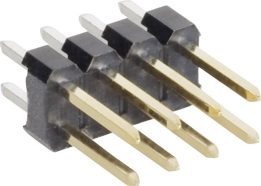 Pinová lišta rovná MPE Garry STL2-1260GGT-006U, 2x 3-pól., 2,54 mm