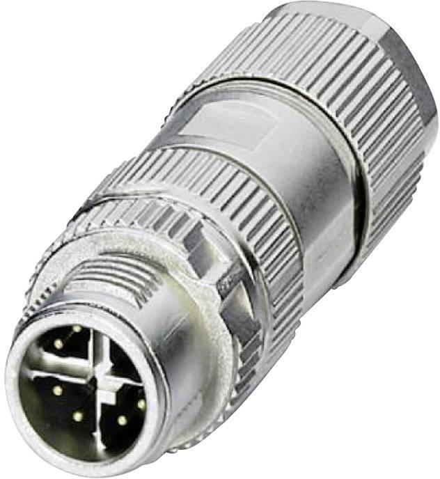 Dátový zástrčkový konektor pre senzory - aktory Phoenix Contact VS-08-M12MS-10G-P SCO 1417430, 1 ks