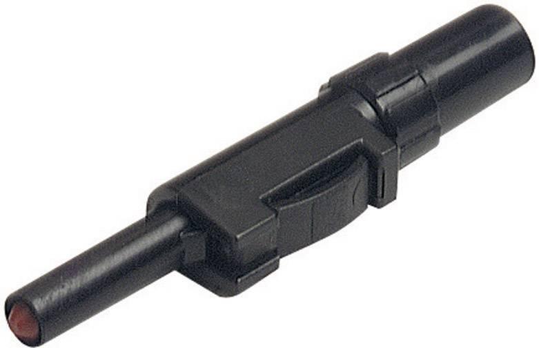 Laboratórna zástrčka SKS Hirschmann SLS 20 B – zástrčka, rovná, Ø hrotu: 4 mm, čierna, 1 ks