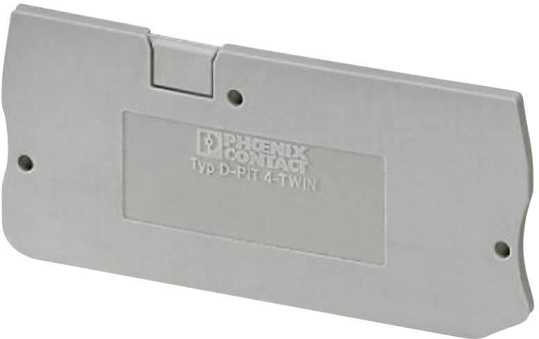Zakončovací kryt Phoenix Contact D-PIT 4-TWIN (3208977), pistolová šedá