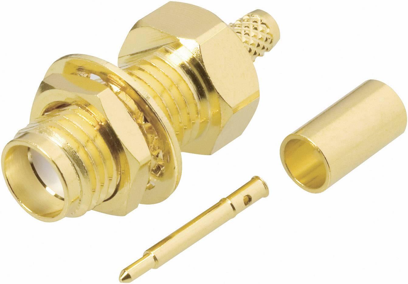 SMA reverzní konektor BKL 419008, 50 Ω, zásuvka vestavná