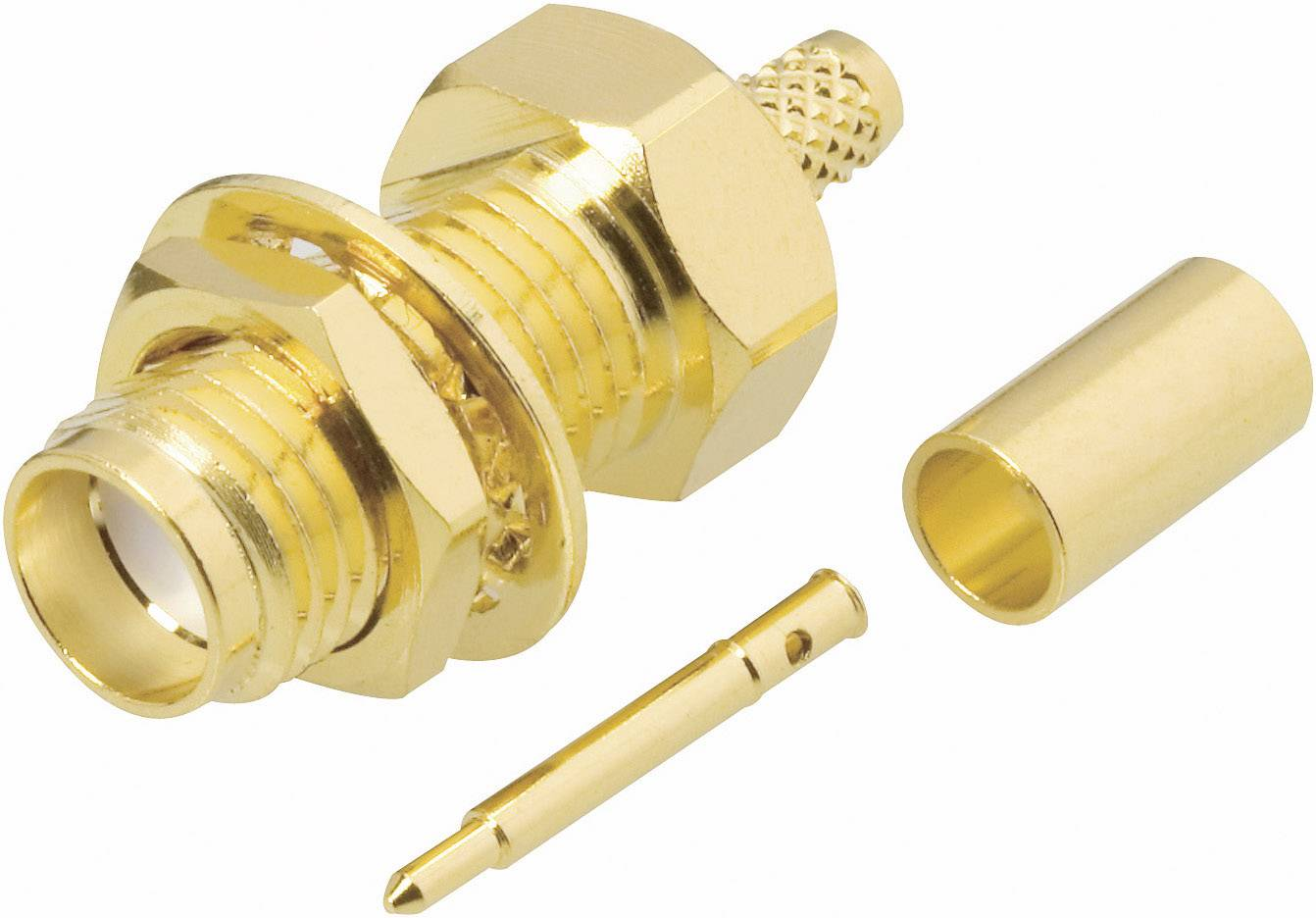 SMA reverzný konektor BKL 419006, 50 Ω, zásuvka vstavaná RG 58