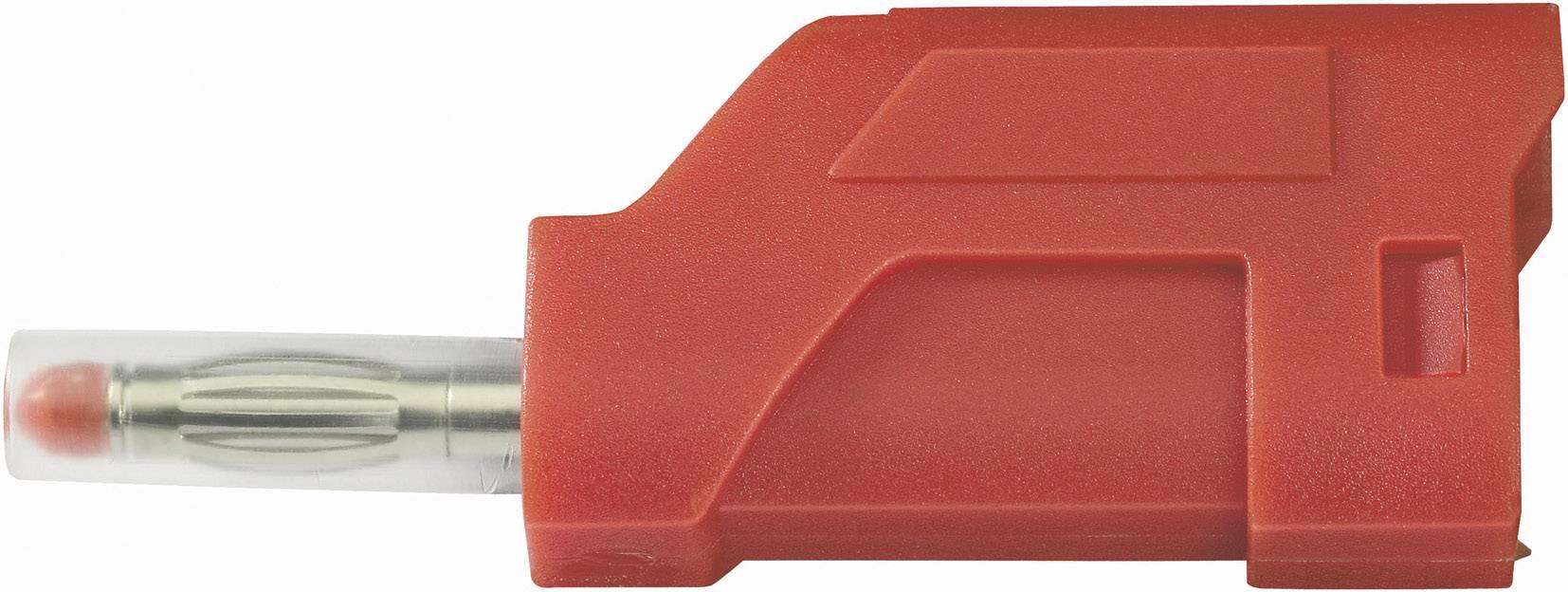 Lamelová zástrčka SCI R8-104 R – zástrčka, rovná, Ø hrotu: 4 mm, červená, 1 ks