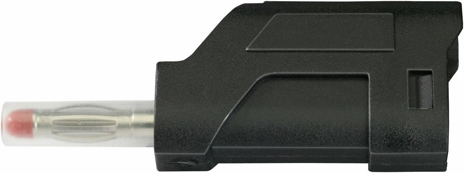 Lamelová zástrčka SCI R8-104 B – zástrčka, rovná, Ø hrotu: 4 mm, čierna, 1 ks