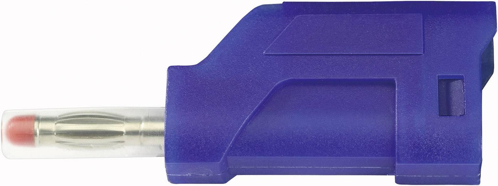 Lamelová zástrčka SCI R8-104 BL – zástrčka, rovná, Ø hrotu: 4 mm, modrá, 1 ks