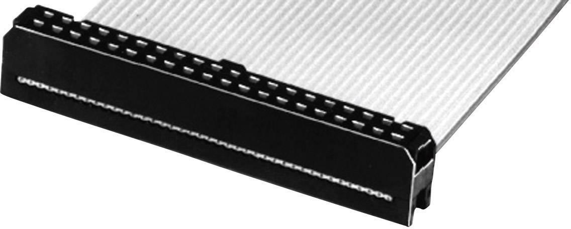 Konektor pre ploché káble W & P Products 141-06-10-60/S, raster: 2.54 mm, počet pólov: 6, 1 ks