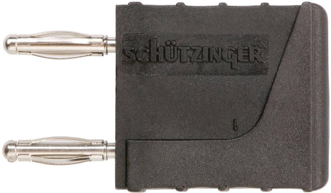 Spojovací konektor Schützinger KURZ 10 - 2 IG M / SW, Ø hrotu 2 mm, rozostup hrotov 10 mm, čierna, 1 ks
