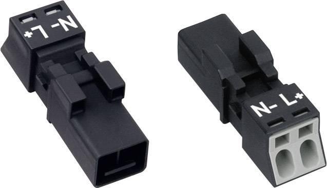 Sieťový konektor WAGO zástrčka, rovná, počet kontaktov: 2, 16 A, 250 V, čierna, 1 ks