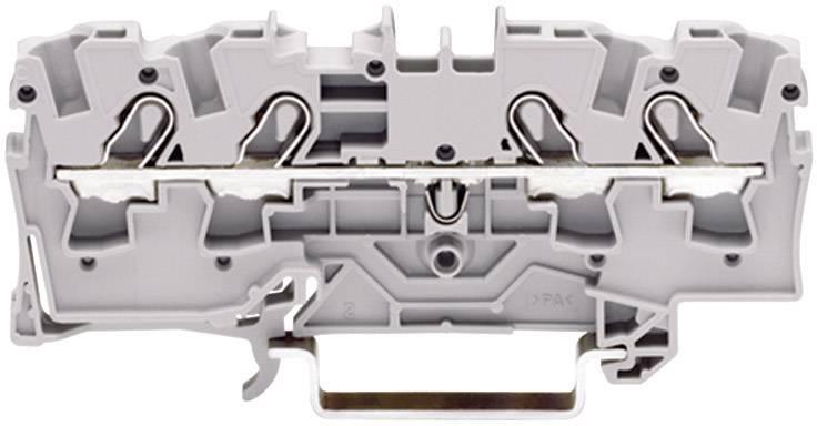 Priechodná svorka WAGO 2004-1401, osadenie: L, pružinová svorka, 6.20 mm, sivá, 1 ks