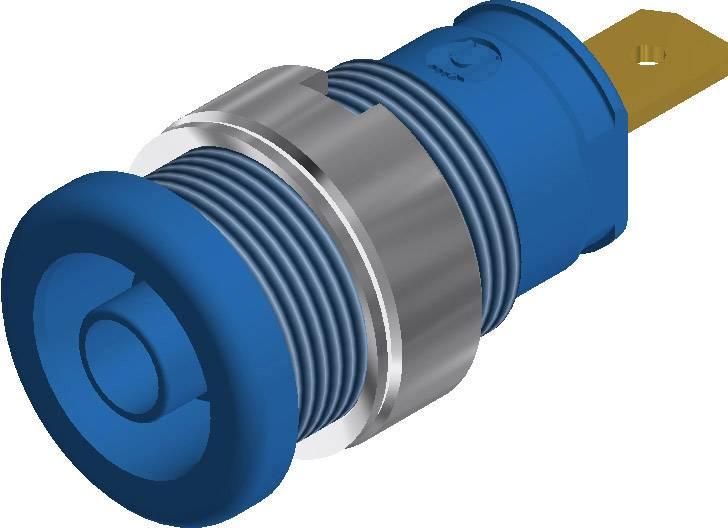 Labor. zásuvka SKS Hirschmann SEB 2610 F4.8 (972355102), vestavná vertik., Ø 4 mm, modrá