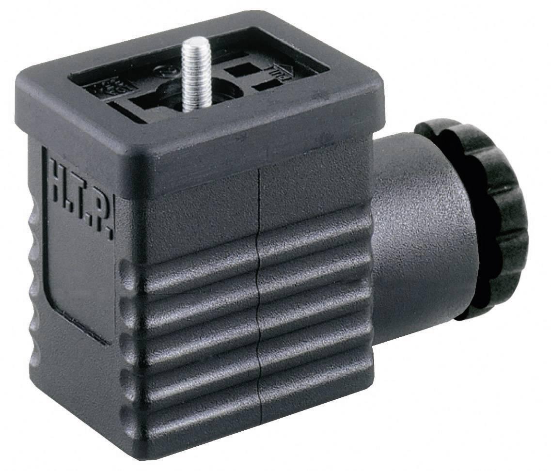 Ventilový konektor HTP M1NS2000, IP65 (namontované), černá