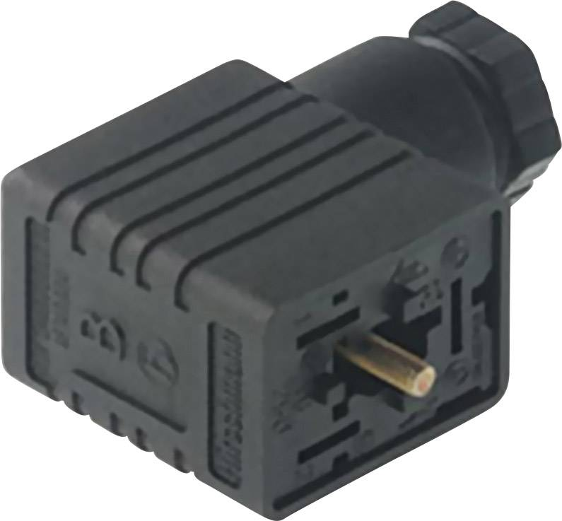 Napájecí prům. konektor Hirschmann GML 209 NJ GB1 schwarz/black (933 398-100), šrouby, kabelová očka, kruhové