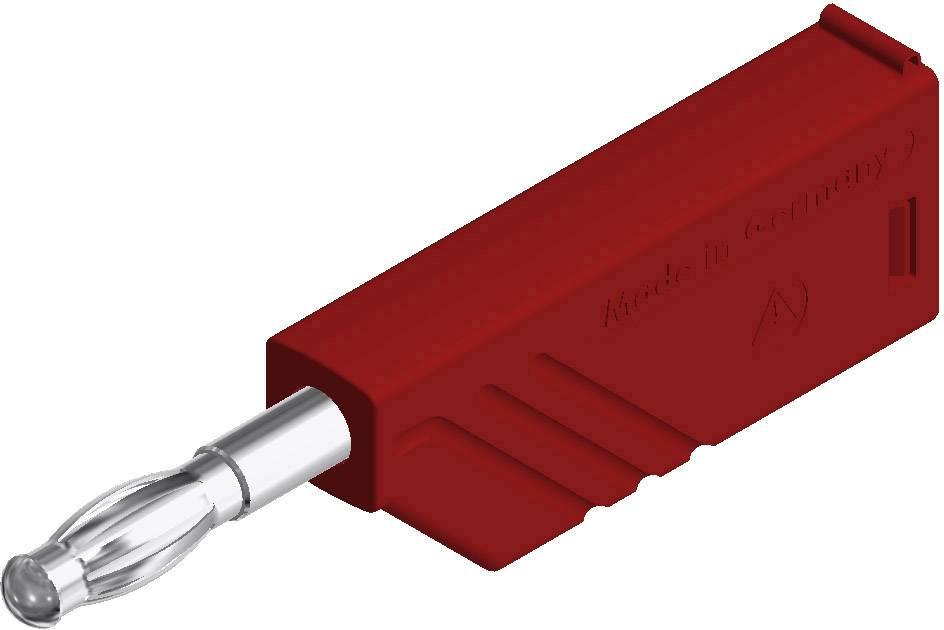 Lamelová zástrčka SKS Hirschmann LAS N WS – zástrčka, rovná, Ø hrotu: 4 mm, červená, 1 ks