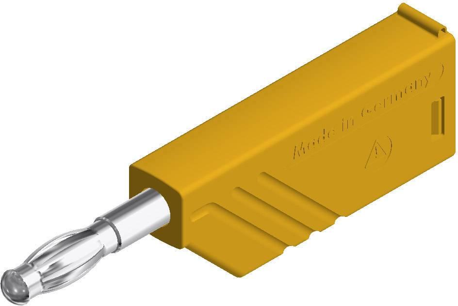 Lamelová zástrčka SKS Hirschmann LAS N WS – zástrčka, rovná, Ø hrotu: 4 mm, žltá, 1 ks