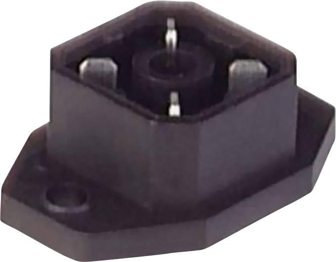 Konektor s páj. kontakty a přírubou Hirschmann G 4 A 5 M SCHWARZ/BLACK (932 092-100), černá