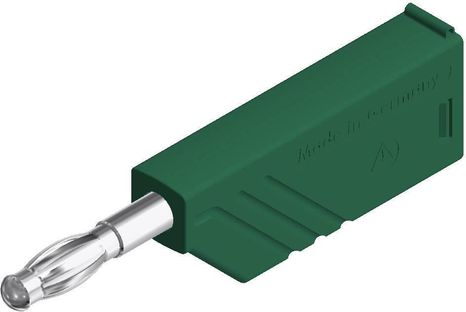 Lamelová zástrčka SKS Hirschmann LAS N WS – zástrčka, rovná, Ø hrotu: 4 mm, zelená, 1 ks