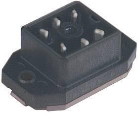 Konektor s páj. kontakty a přírubou Hirschmann GO 60 FAV M (932 918-100), Pájení, černá