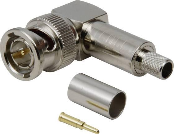 BNC konektor zástrčka, zahnutá BKL Electronic 0401218, 50 Ohm, 1 ks