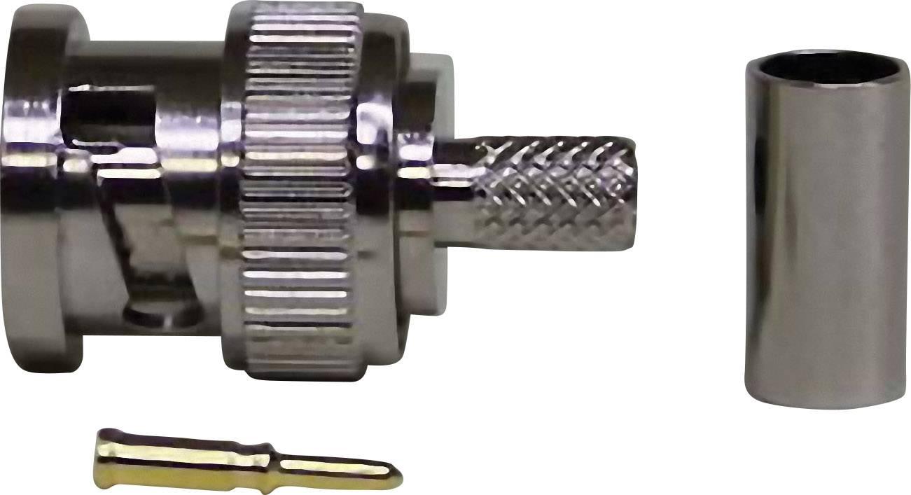 BNC konektor zástrčka, rovná 50 Ohm, 1 ks