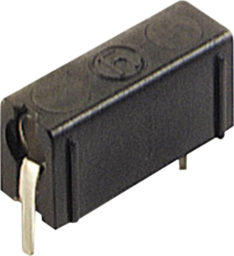 Skúšobné konektor SKS Hirschmann PB 4 – zásuvka, vstavateľná vertikálna, Ø hrotu: 4 mm, čierna, 1 ks