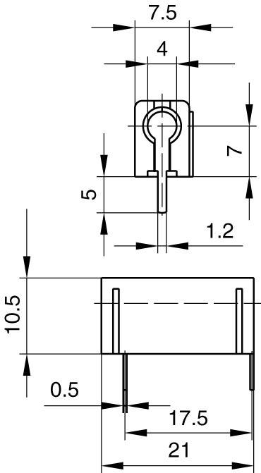 Skúšobné konektor SKS Hirschmann PB 4 – zásuvka, vstavateľná vertikálna, Ø hrotu: 4 mm, červená, 1 ks