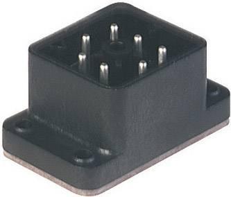 Konektor pájecí s přírubou Hirschmann GO 610 FA M (932 478-100), Pájení, černá