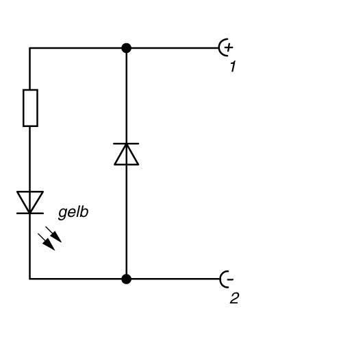 Indikátor funkce sochr. obvodem Hirschmann GDME LED 24 HH YE (831 873-001), světle šedá
