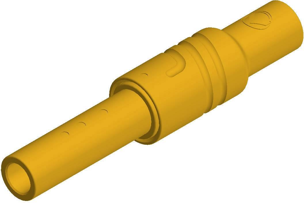 Bezpečnostná lamelová zásuvka SKS Hirschmann KUN S – zásuvka, rovná, Ø hrotu: 4 mm, žltá, 1 ks