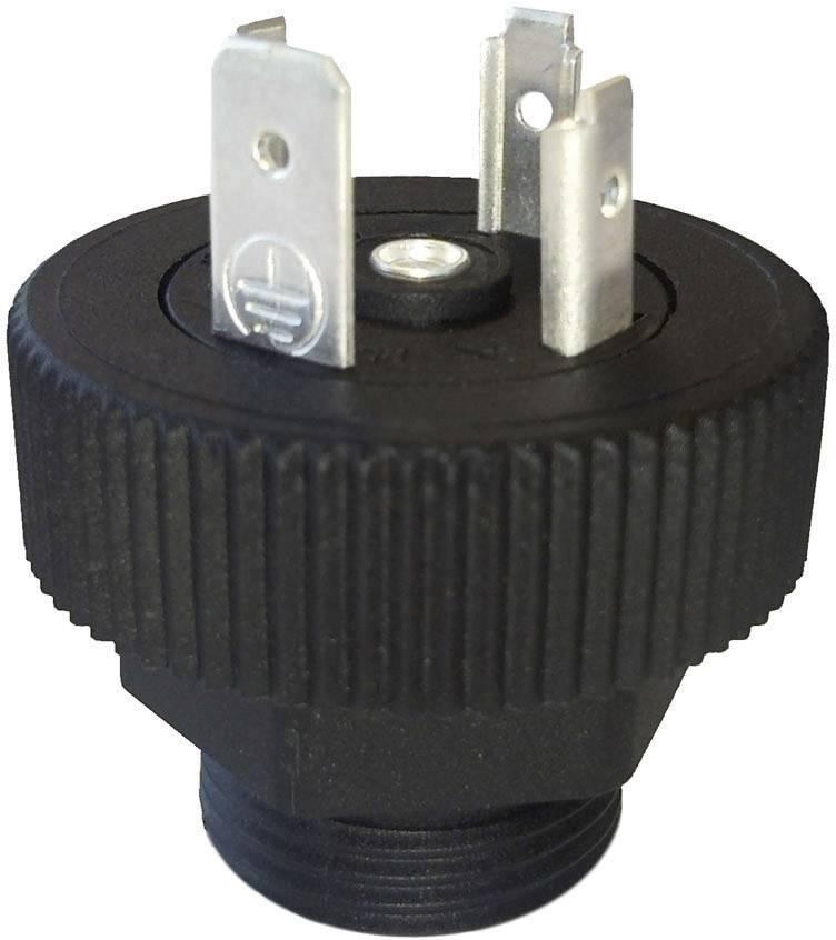 Konektor série GMD Hirschmann GSP 3 M 20 (931 297-006), Pájený přívod, černá