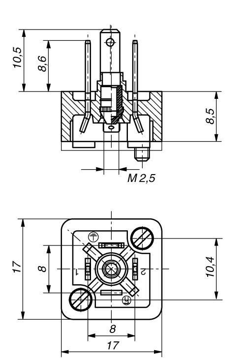 Konektor Hirschmann GSSNA 200 (933 110-100), Pájené připojení