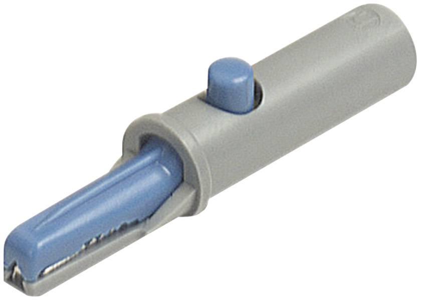 Krokosvorka SKS Hirschmann AK 10, 60 V, 6 A, 4 mm, modrá