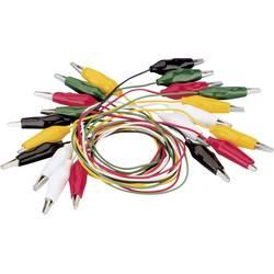 Sada měřicích kabelů krokosvorka ⇔ krokosvorka Voltcraft KS-630/0.1, 0,63 m, 10 ks