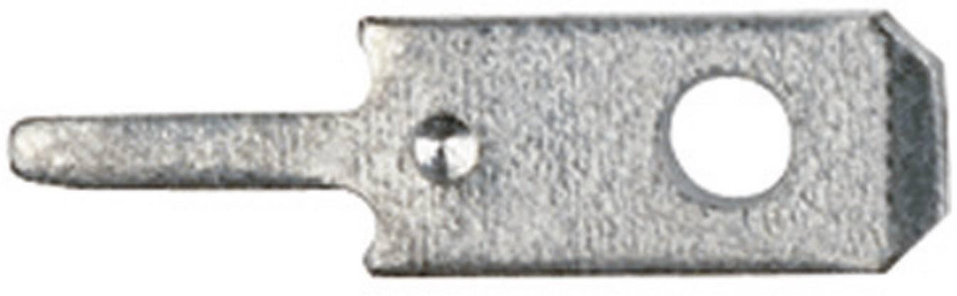 Jazýčkový konektor do DPS Klauke 2010, 2,8 mm, 0,8 mm, 180 °, kov