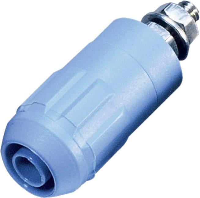 Laboratórna zásuvka Stäubli XUB-G – zásuvka, vstavateľná vertikálna, Ø hrotu: 4 mm, modrá, 1 ks